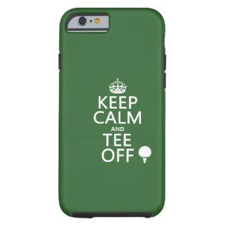 Guarde los presentes del golf de la calma y de la funda de iPhone 6 tough