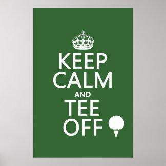 Guarde los presentes del golf de la calma y de la póster