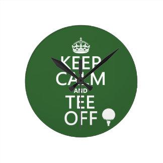 Guarde los presentes del golf de la calma y de la  reloj redondo mediano