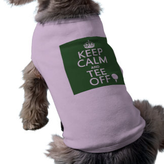 Guarde los presentes del golf de la calma y de la ropa de perro