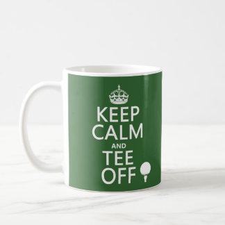 Guarde los presentes del golf de la calma y de la taza clásica