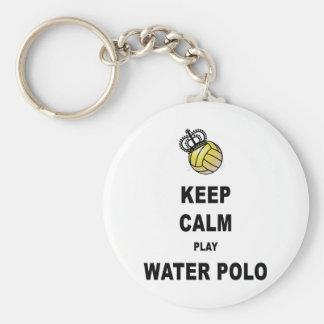 Guarde los productos del water polo de la calma y  llavero redondo tipo pin