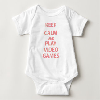 Guarde los videojuegos de la calma y del juego mameluco de bebé