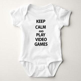 Guarde los videojuegos de la calma y del juego polera