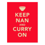 """""""Guarde NaN y el curry en"""" la postal de la parodia"""