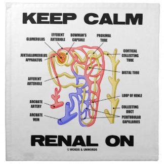 Guarde renal tranquilo en (riñón Nephron) Servilletas