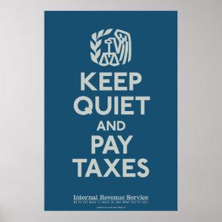 Guarde silenciosamente e impresión de los impuesto impresiones