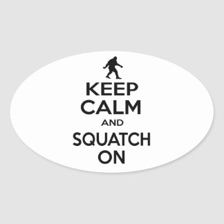 Guarde Squatchin Pegatina Ovalada