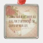 Guarde su corazón - 4:23 de los proverbios ornamentos para reyes magos