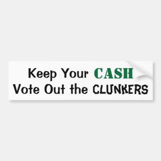 Guarde su efectivo para votar hacia fuera los Clun Pegatina Para Auto