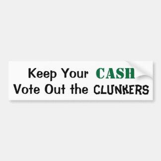 Guarde su efectivo para votar hacia fuera los Clun Pegatina De Parachoque