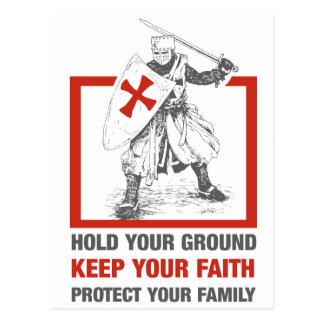 Guarde su fe, proteja a su familia tarjetas postales