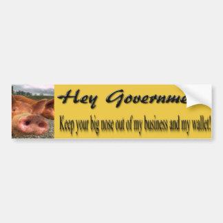 ¡Guarde su nariz grande HACIA FUERA! Etiqueta De Parachoque