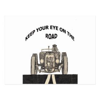 Guarde su ojo en el camino postal