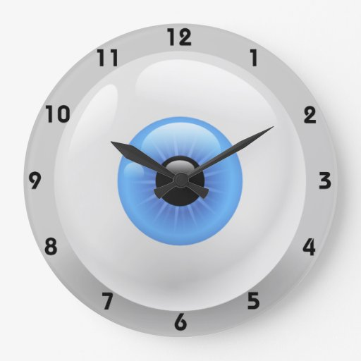 guarde su ojo en el reloj de tiempo