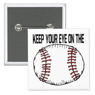 Guarde su ojo en la bola pins