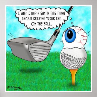 Guarde su ojo en la bola poster