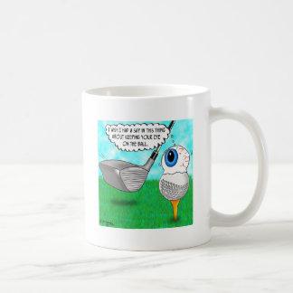 Guarde su ojo en la bola tazas de café
