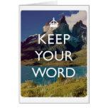 Guarde su palabra felicitacion