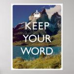 Guarde su palabra poster