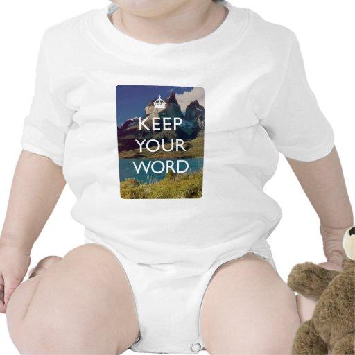 Guarde su palabra traje de bebé