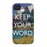 Guarde su palabra vibe iPhone 4 funda