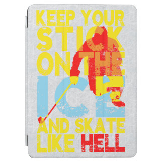 Guarde su palillo de hockey en la caja del hielo cubierta de iPad air