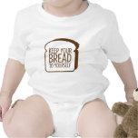 Guarde su pan a sí mismo traje de bebé