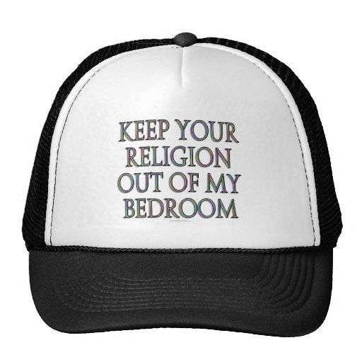 Guarde su religión fuera de mi dormitorio gorros bordados
