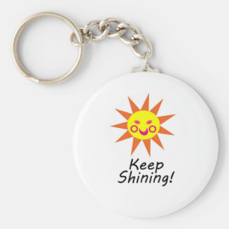 Guarde Sun sonriente hecho frente feliz brillante Llavero Redondo Tipo Pin