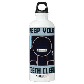Guarde sus dientes su botella limpia del poster de