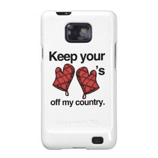 Guarde sus mitones de mi país - .png galaxy s2 carcasa