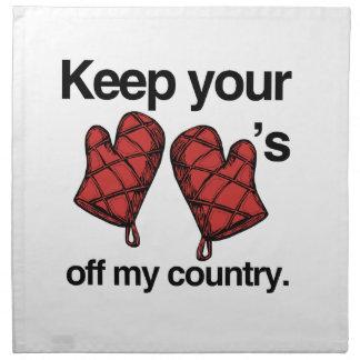 Guarde sus mitones de mi país - .png servilleta imprimida