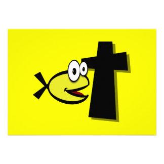 Guarde sus ojos en la cruz invitacion personal