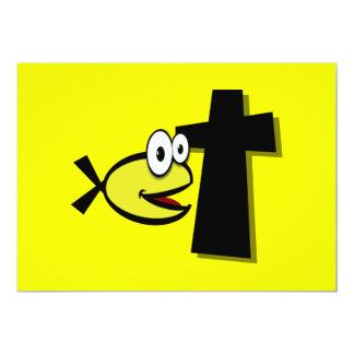 """Guarde sus ojos en la cruz invitación 5"""" x 7"""""""