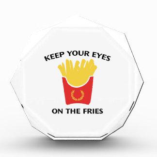 Guarde sus ojos en las fritadas