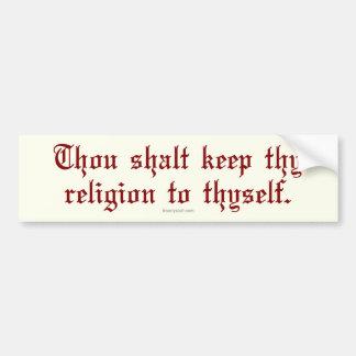 Guarde Thy religión Pegatina De Parachoque