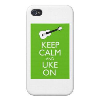 Guarde Uke tranquilo en (el trébol) iPhone 4 Funda