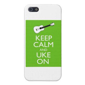 Guarde Uke tranquilo en (el trébol) iPhone 5 Carcasas
