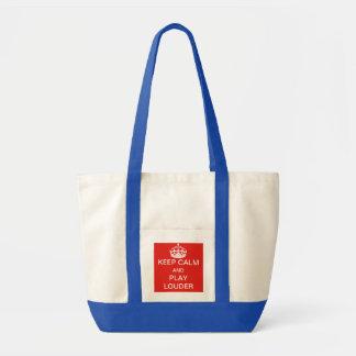 Guarde un bolso más ruidoso de la calma y del jueg bolsa tela impulso