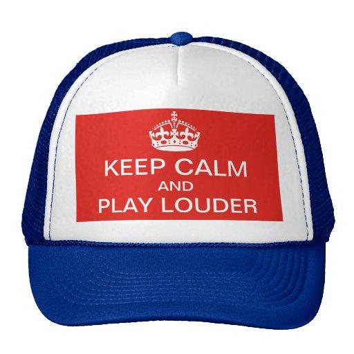Guarde un gorra más ruidoso de la calma y del jueg
