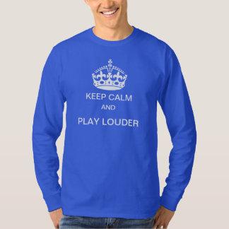 Guarde una camiseta más ruidosa de la calma y del playeras