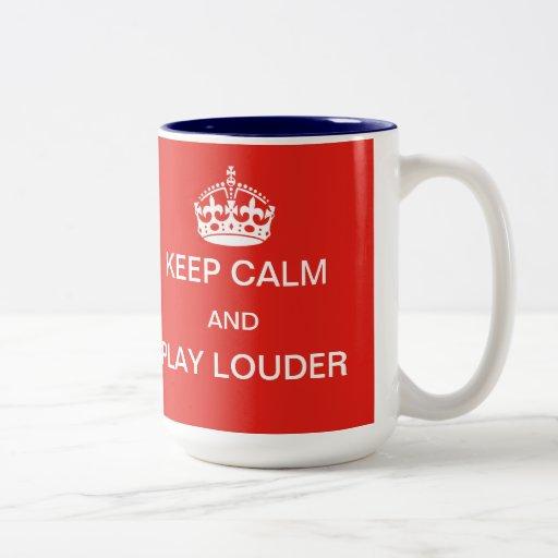 Guarde una taza más ruidosa de la calma y del jueg