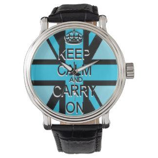 Guarde Union Jack azul tranquilo Reloj De Mano