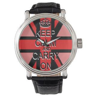 Guarde Union Jack rojo tranquilo Reloj