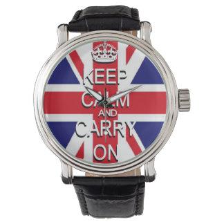 Guarde Union Jack tranquilo Relojes De Pulsera