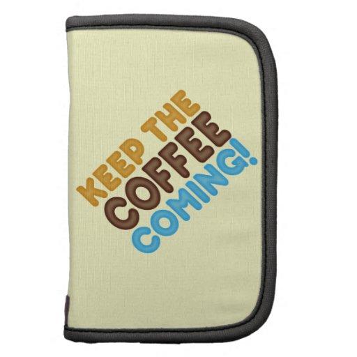 Guarde venir del café organizadores