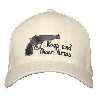 Guarde y lleve la enmienda de los brazos segundos gorra de béisbol