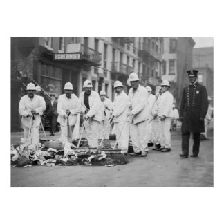 Guarded Garbage: 1910 Print