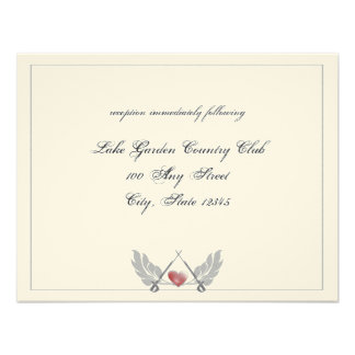 Guarded Heart Wedding reception Invitations